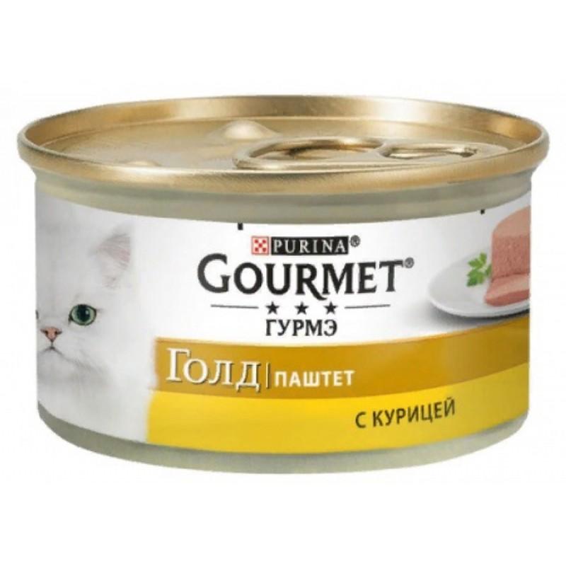 Влажный корм для кошек Gourmet Gold паштет с курицей 0,085 кг