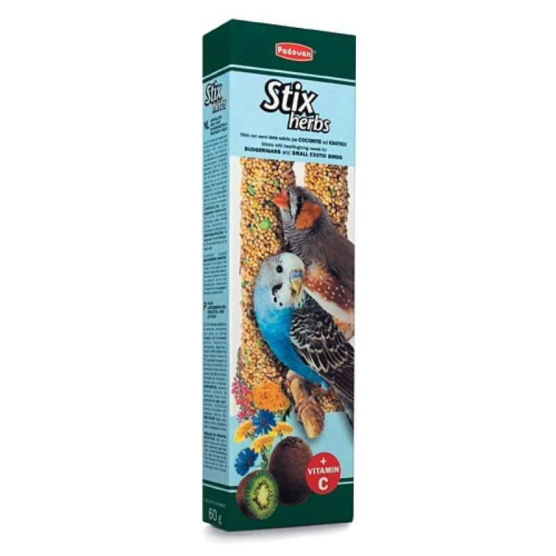Лакомство для попугаев Padovan STIX HERBS палочки антистрессовые с травами 0,08 кг