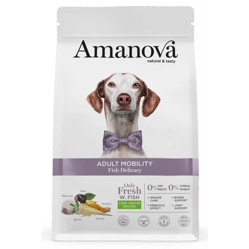 Сухой корм для собак Amanova Adult Mobility с лакомой рыбкой при заболеваниях суставов 2 кг