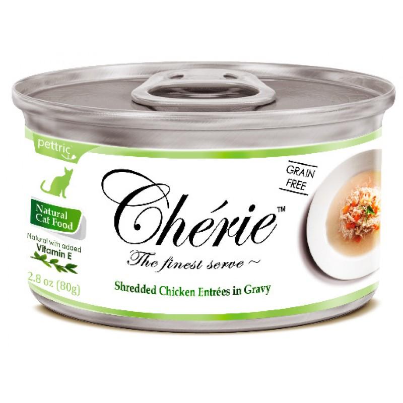 Влажный корм для кошек Pettric Cherie с курицей и овощами в подливе 0,08 кг