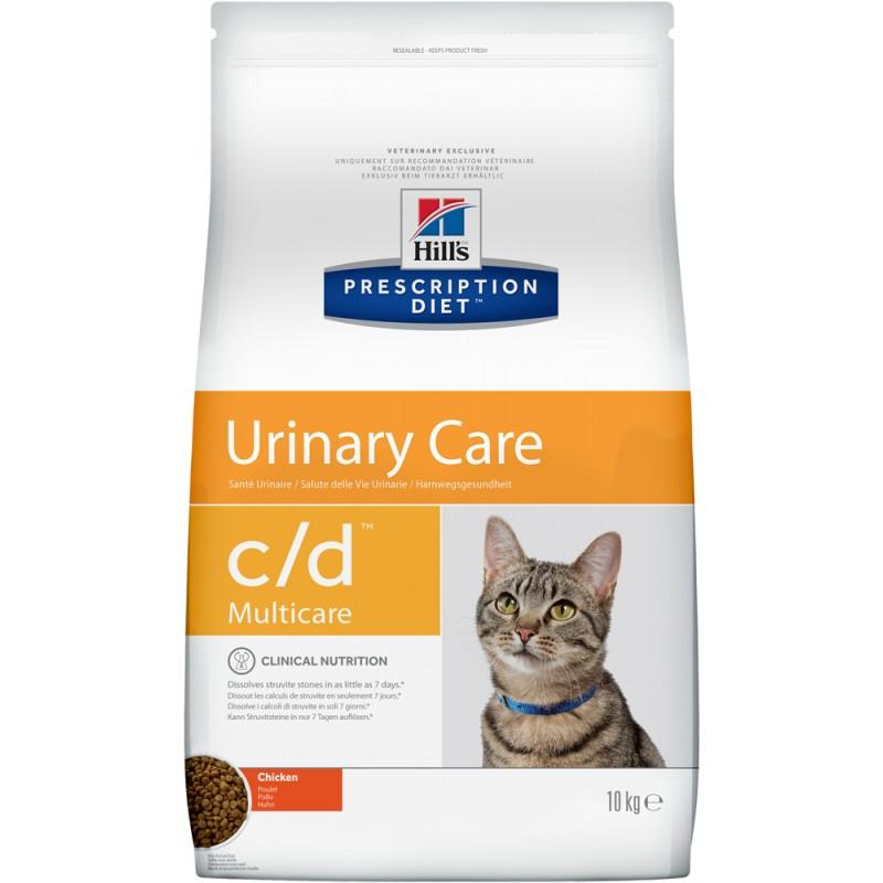 Сухой корм Hills Prescription Diet c/d Feline Multicare with Chicken диета для кошек 10 кг