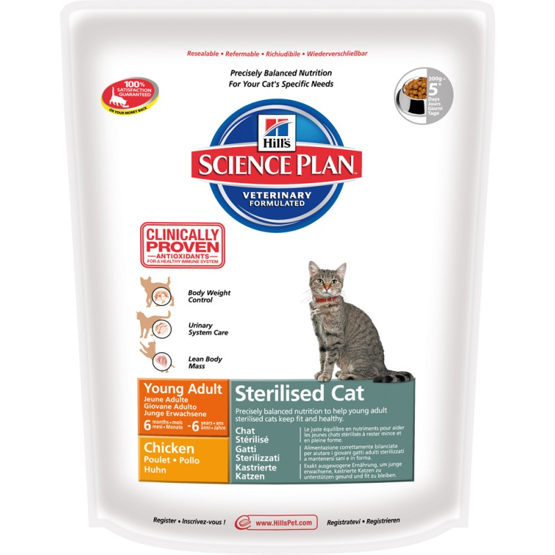 Сухой корм для кошек Hills Science Plan Sterilised Cat Young Adult Chicken 0,3 кг