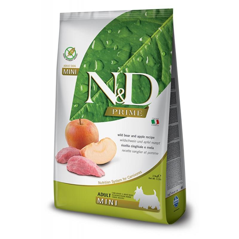 Сухой корм для собак Farmina N&D Prime Adult Mini беззерновой с кабаном и яблоком 7 кг