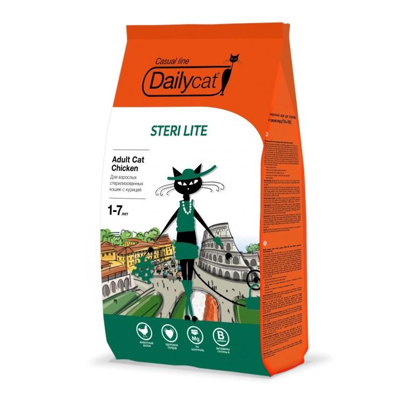 Сухой корм для кошек DailyCat Casual Line Adult Steri Lite для стерилизованных с курицей 3 кг