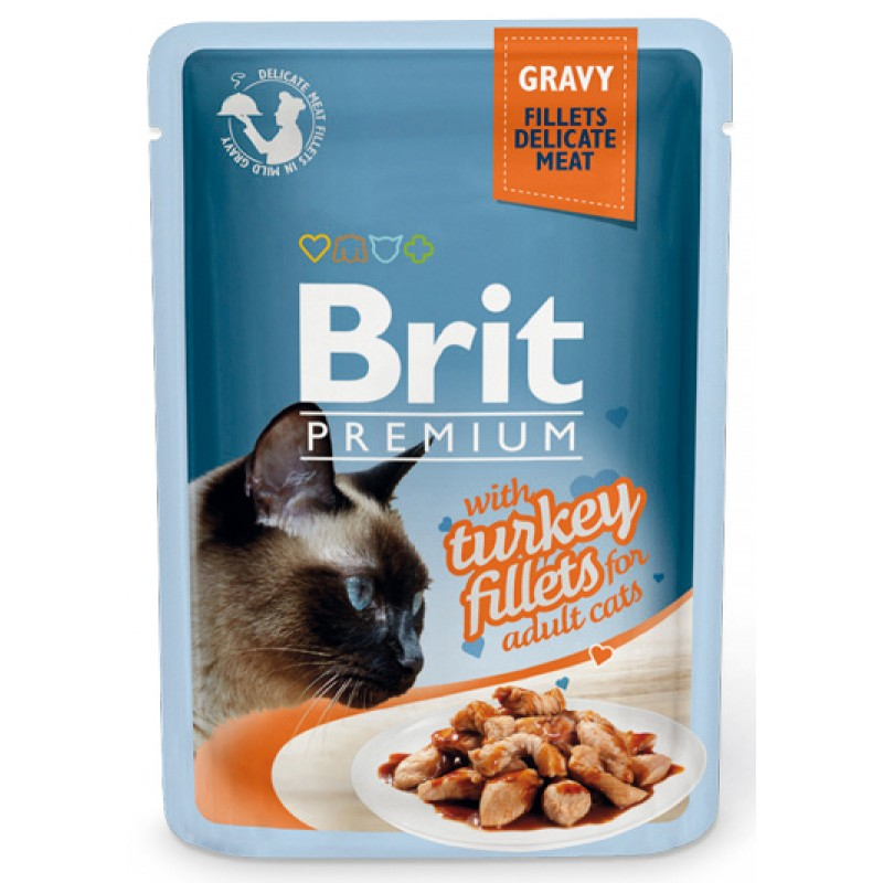 Влажный корм для кошек Brit Gravy Turkey Fillets 0,085 кг