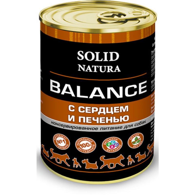 Влажный корм для собак Solid Natura Balance Сердце и печень 0,34 кг