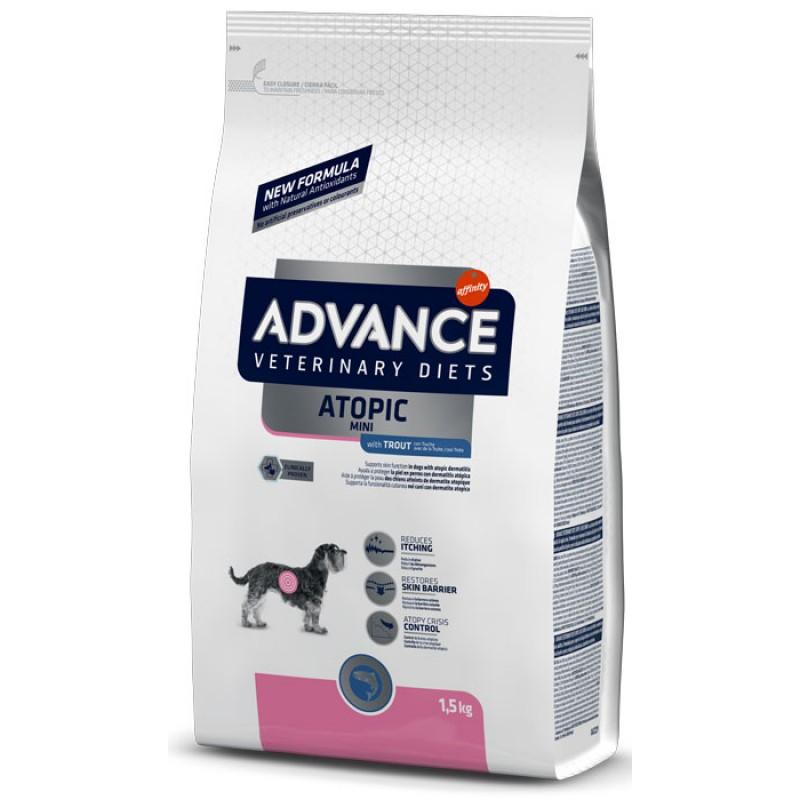 Сухой корм Advance Avet Dog Atopic Mini Trout для маленьких пород при дерматозах и аллергии диета для собак 1,5 кг