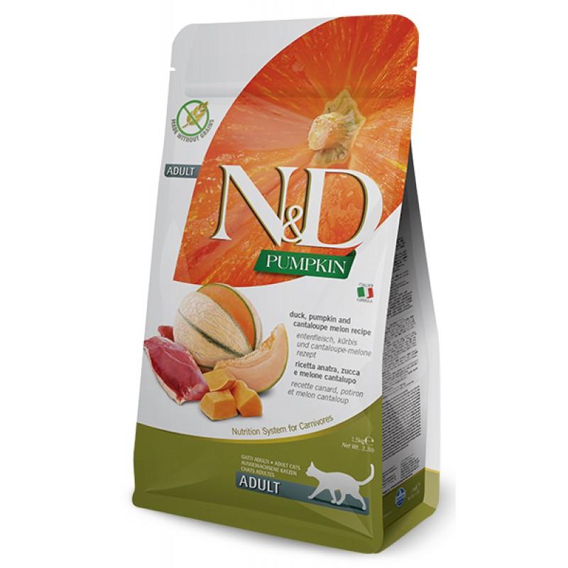 Сухой корм для кошек Farmina N&D Pumpkin Adult беззерновой с уткой, тыквой и дыней 0,3 кг