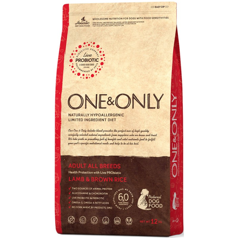 Сухой корм для собак One&Only Lamb & Rice Adult All Breeds 3 кг