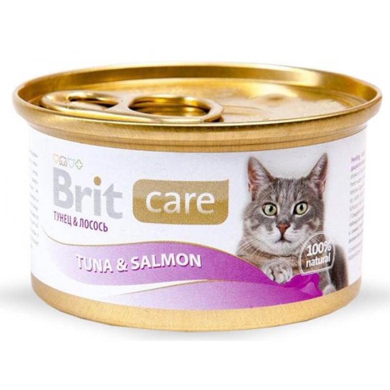 Влажный корм для кошек Brit Care Tuna & Salmon 0,08 кг