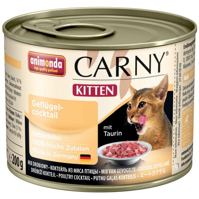 Влажный корм для котят Animonda Carny Kitten Poultry Cocktail 0,2 кг