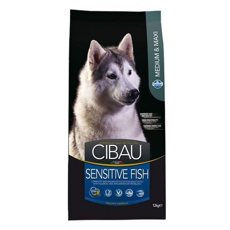 Сухой корм для собак Farmina Cibau Sensitive Fish Medium & Maxi 12 кг