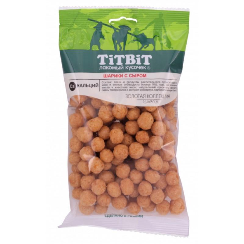 Лакомство для собак Titbit Шарики с сыром 0,095 кг