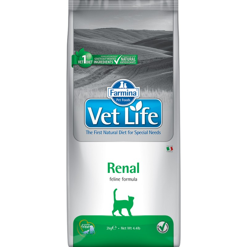 Сухой корм Farmina Vet Life Feline Renal диета для кошек 2 кг