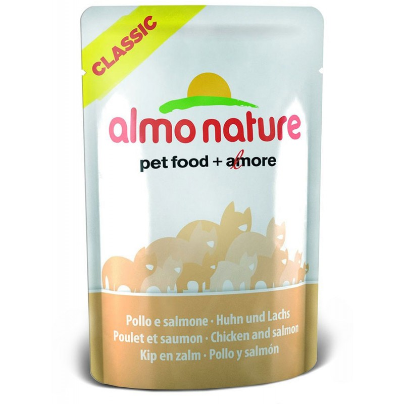 Влажный корм для кошек Almo Nature Classic Adult Cat with Chicken and Salmon 0,055 кг