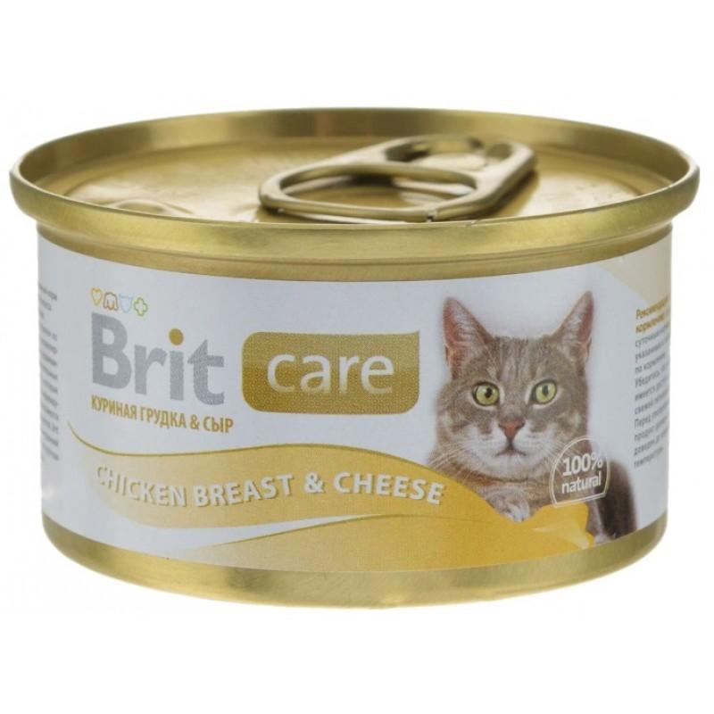 Влажный корм для кошек Brit Care Chicken Breast & Cheese 0,08 кг