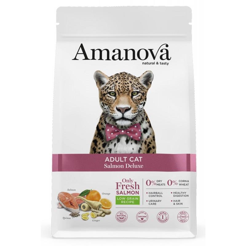 Сухой корм для кошек Amanova Adult с лососем