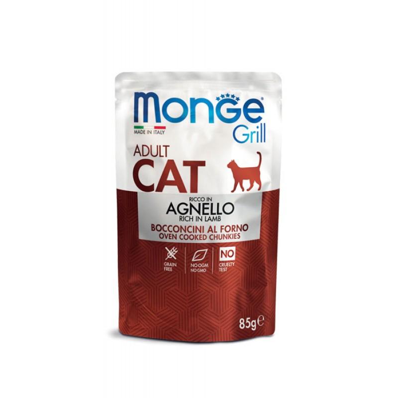 Влажный корм для кошек Monge Cat Grill Pouch новозеландский ягненок пауч 0,085 кг