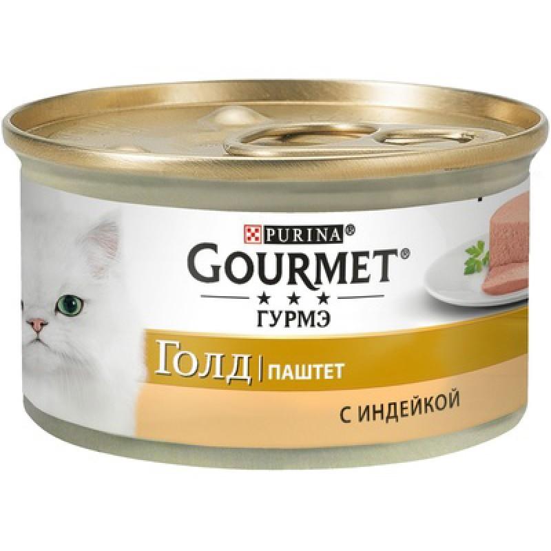 Влажный корм для кошек Gourmet Gold паштет с индейкой 0,085 кг