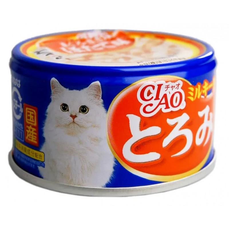 Влажный корм для кошек Inaba Тороми филе курицы,тунец и гребешок в сливочном бульоне 0,08 кг
