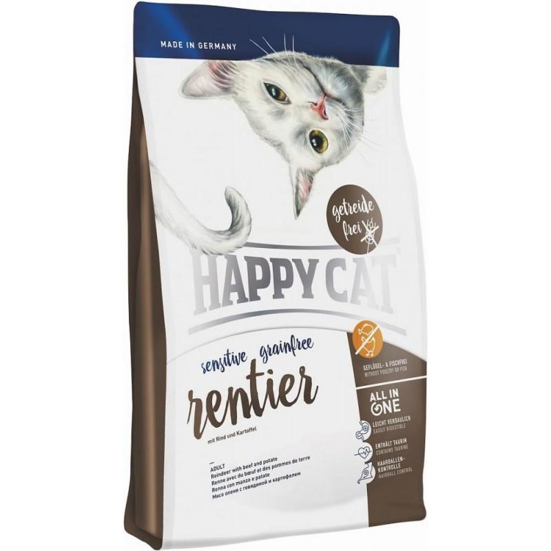 Сухой корм для кошек Happy Cat Sensitive Grainfree Rentier 4 кг