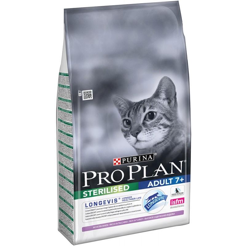 Сухой корм для кошек Purina Pro Plan Sterilised feline Adult 7+ with Turkey dry 3 кг