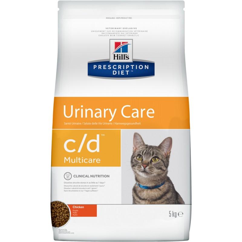 Сухой корм Hills Prescription Diet c/d Feline Multicare with Chicken диета для кошек 5 кг