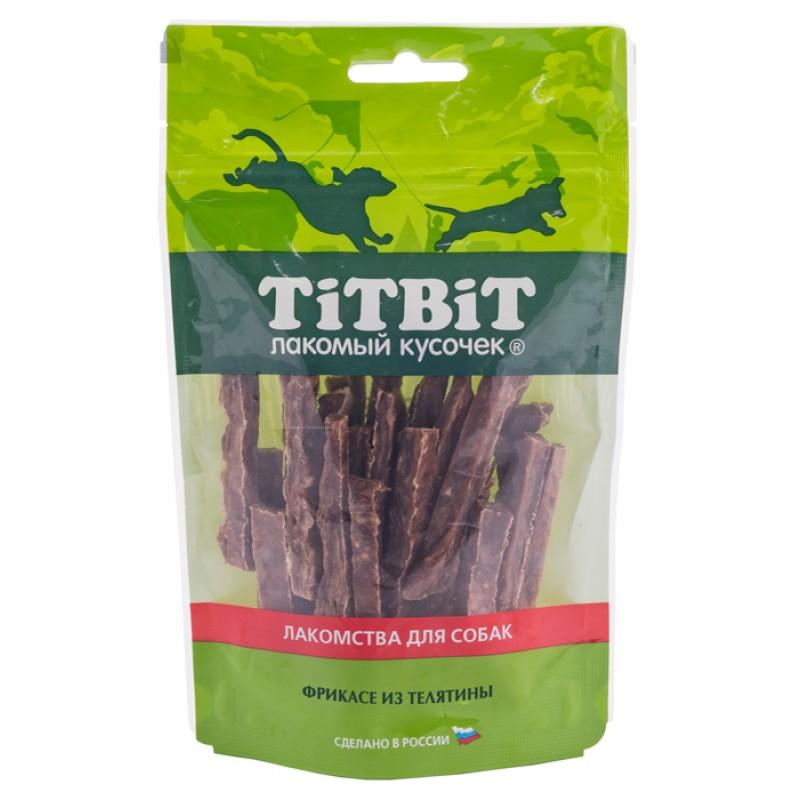Лакомство для собак Titbit Фрикасе из телятины 0,07 кг
