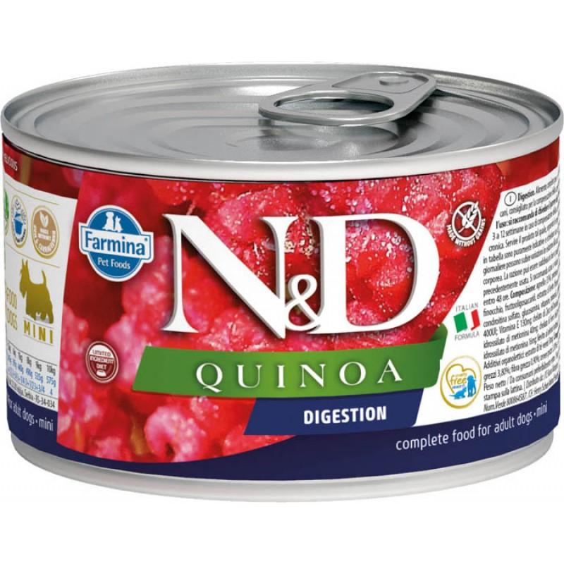 Влажный корм для собак Farmina N & D Quinoa Digestion Mini с киноа для поддержания пищеварения для маленьких пород 0,14 кг