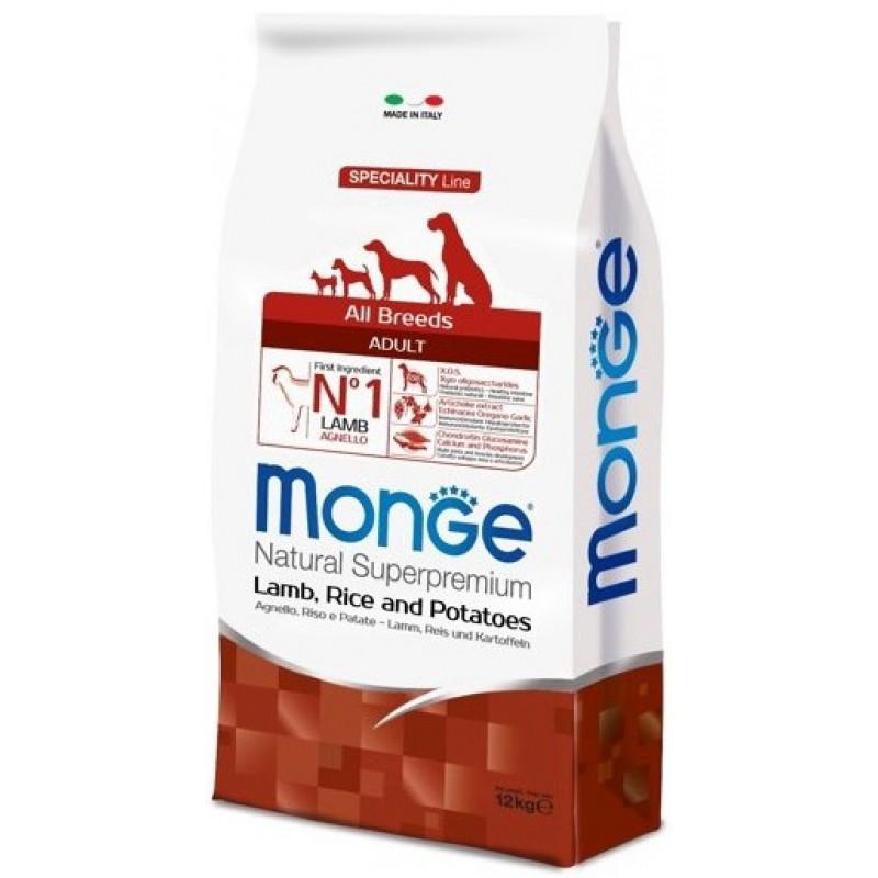 Сухой корм для собак Monge Speciality Adult ягненок с рисом и картофелем 2,5 кг