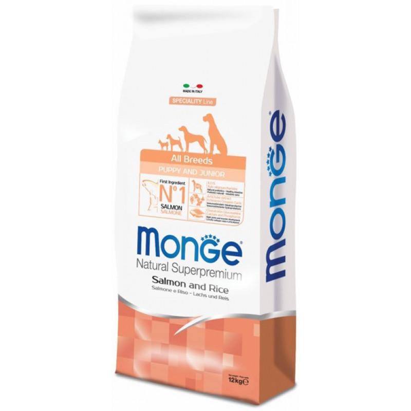 Сухой корм для щенков Monge Speciality Puppy&Junior лосось с рисом 2,5 кг