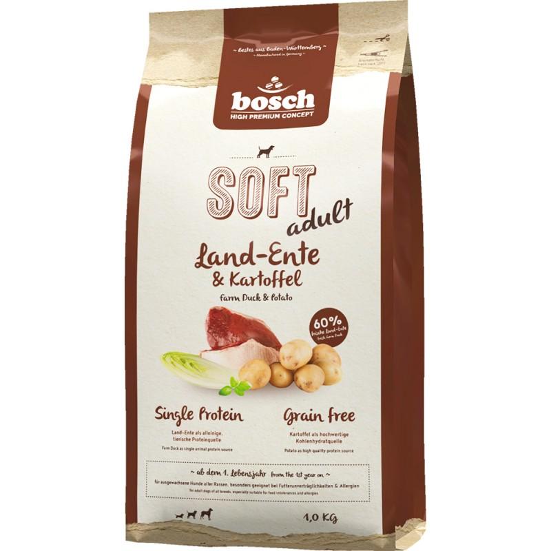 Полувлажный корм для собак Bosch Soft с уткой и картофелем 1 кг