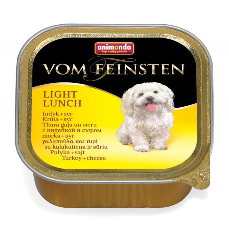 Влажный корм для собак Animonda Vom Feinsten Light Lunch с индейкой и сыром 0,15 кг