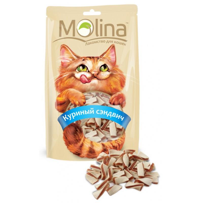 Лакомство для кошек Molina Куриный Сэндвич 0,08 кг