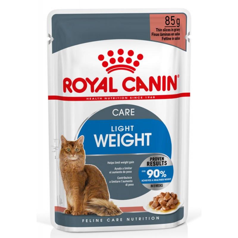 Влажный корм для кошек Royal Canin Light Weight Care в соусе пауч  0,085 кг