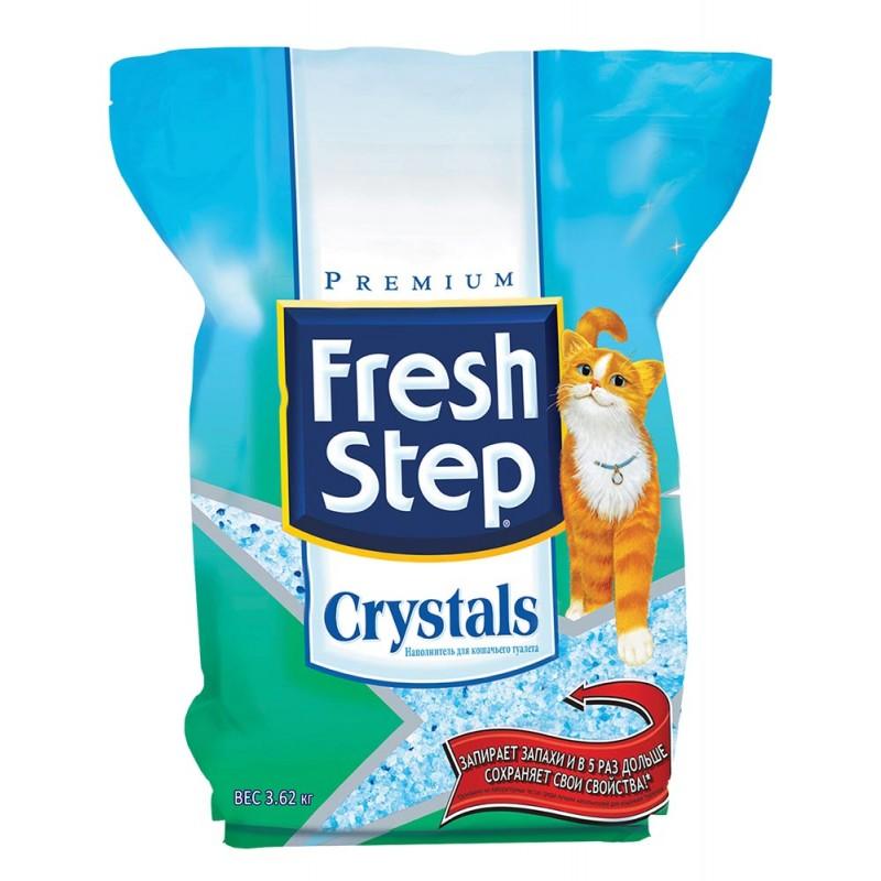 Наполнитель Fresh Step Crystals впитывающий силикагель без запаха 3,62кг 15 л