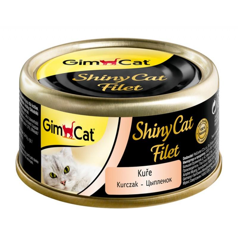 Влажный корм для кошек Gimborn GimCat ShinyCat Filet с цыпленком 0,07 кг