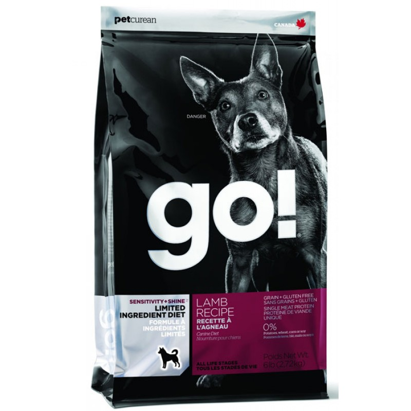 Сухой корм для собак Go! Sensitivity + Shine LID Lamb Dog Recipe Grain Free & Potato Free 2,72 кг