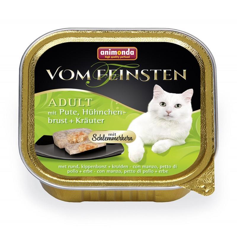 Влажный корм для кошек Animonda Vom Feinsten Adult с индейкой, куриной грудкой и травами 0,1 кг