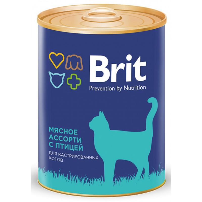 Влажный корм для кошек Brit Beef And Chicken Medley 0,34 кг