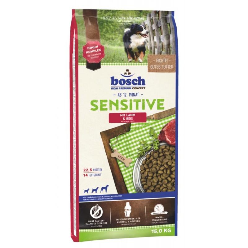 Сухой корм для собак Bosch Sensitive с ягнёнком и рисом 15 кг