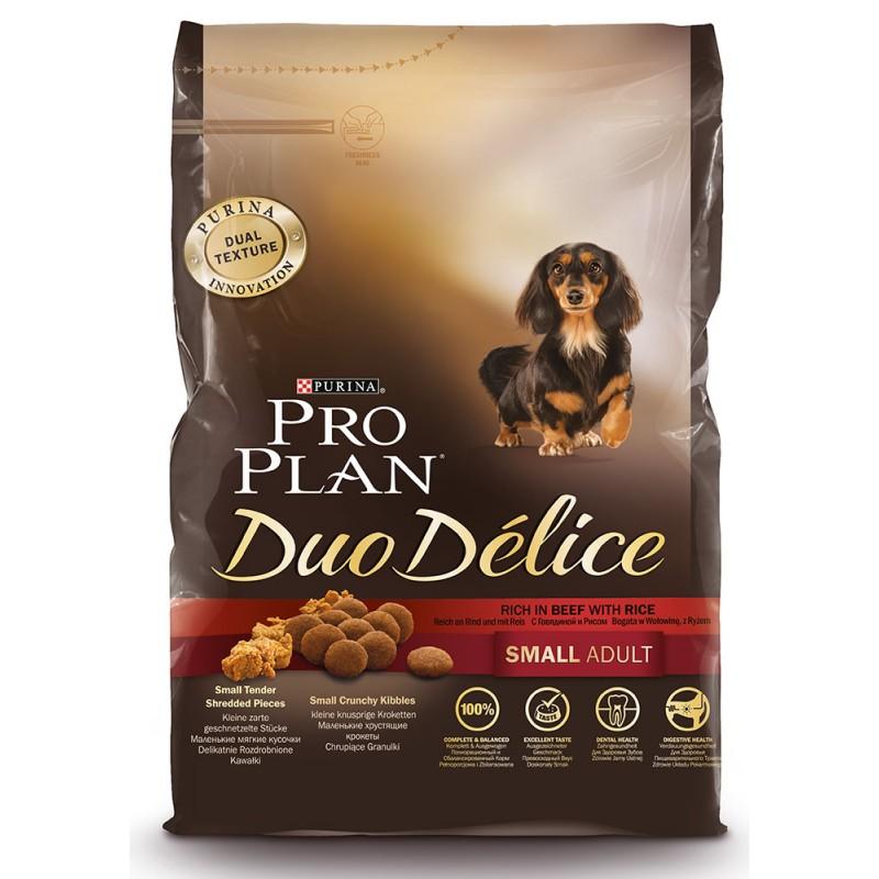 Сухой корм для собак Purina Pro Plan Duo Delice Small Adult Canine Beef&Rice 0,7 кг