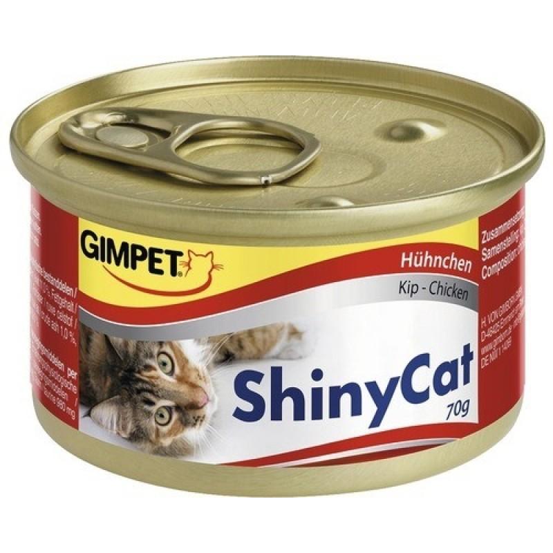 Влажный корм для кошек Gimpet ShinyCat цыпленок 0,07 кг