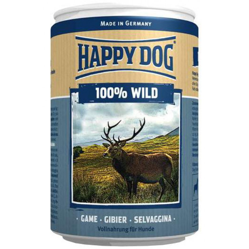 Влажный корм для собак Happy Dog 100% Wild 0,4 кг