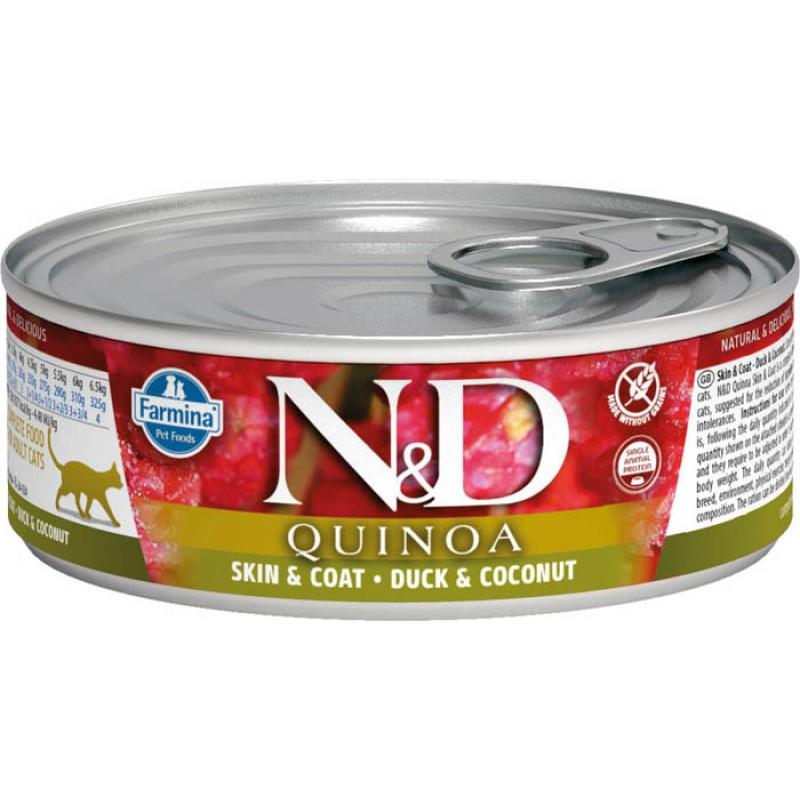 Влажный корм для кошек Farmina N & D Quinoa Duck & Coconut с уткой, киноа и кокосом 0,08 кг
