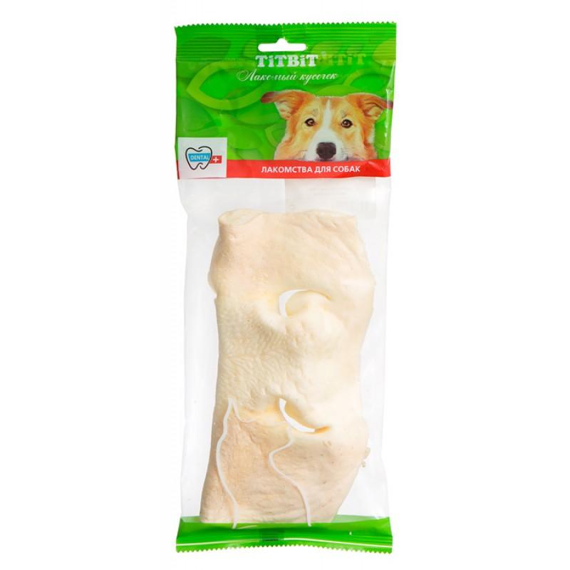 Лакомство для собак Titbit Нос говяжий бабочка мягкая уп-ка 0,075 кг