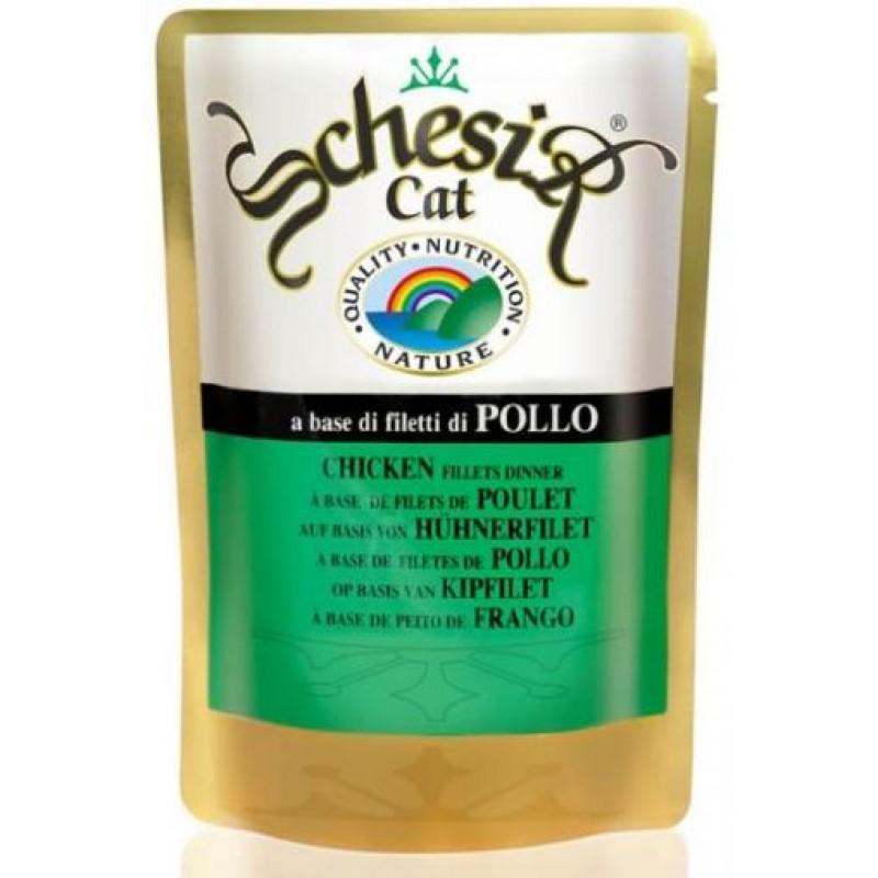 Влажный корм для кошек Schesir Nature Chicken fillet 0,1 кг