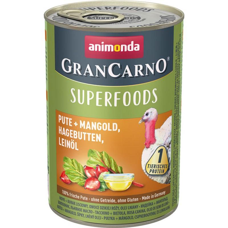 Влажный корм для собак Animonda Gran Carno Superfoods c индейкой 0,4 кг