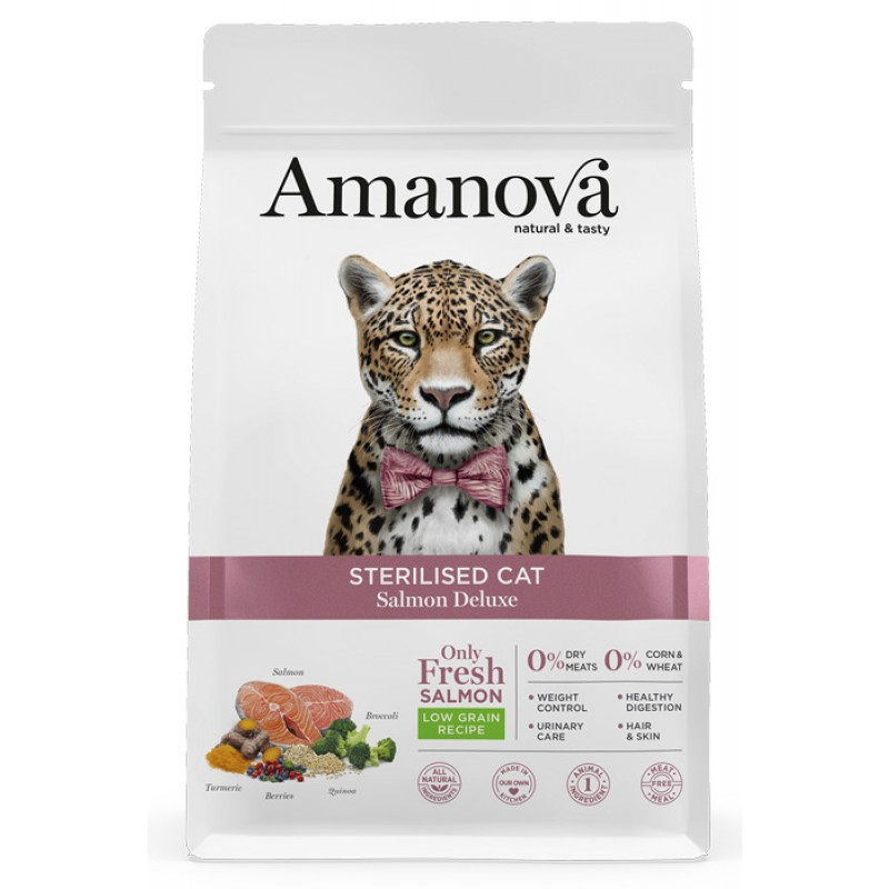 Сухой корм для кошек Amanova Sterilized с лососем
