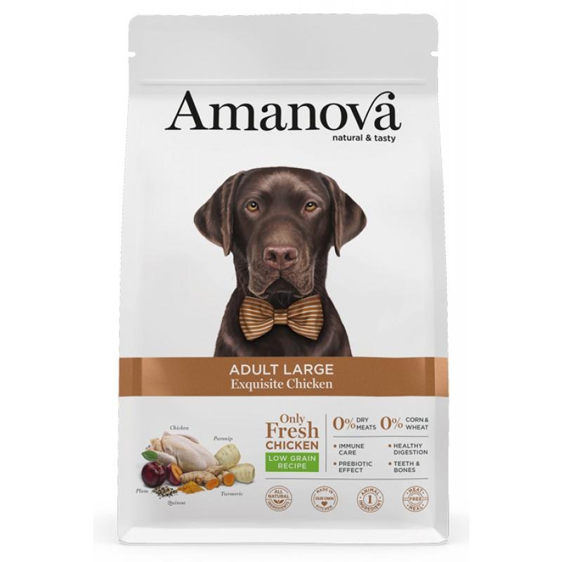Сухой корм для собак Amanova Adult Large с изысканной курочкой для крупных пород 12 кг